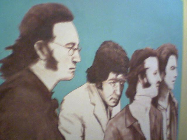 Beatles Art in Starbucks