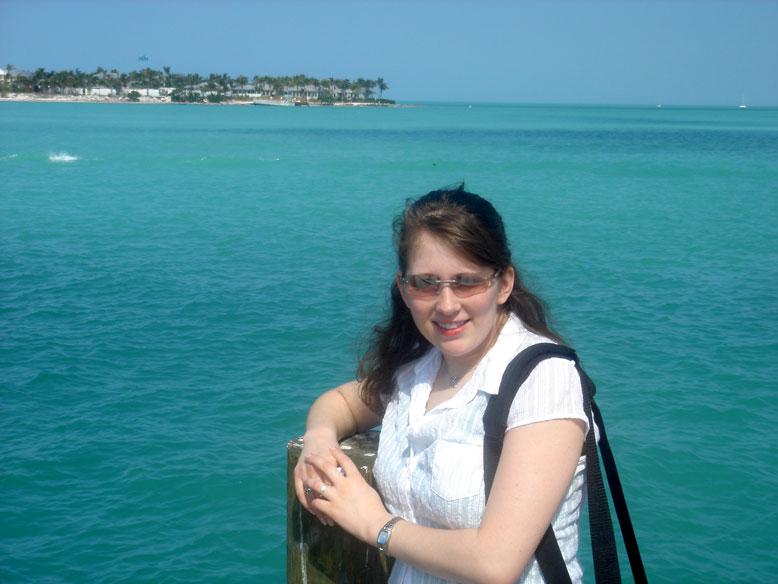 Erin on the pier in Key West