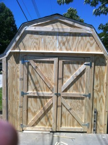 Rebuilt the shed today